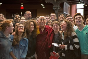 Dalai Lama with Princeton Students