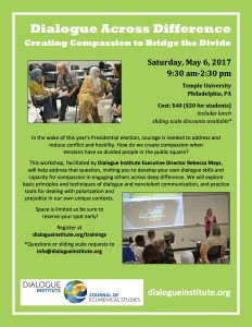 May 2017 dialogue workshop flier