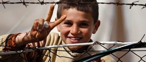 Syrian Boy Peace sign
